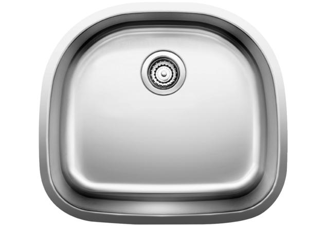 Blanco Stellar® D Single Bowl   Stainless Steel Refined Brushed Finish