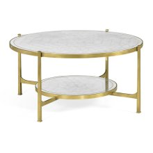glomise Glass Gilded Coffee Table