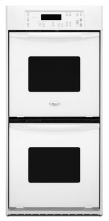 White-on-White Whirlpool® 24 in. Built-In Double Oven
