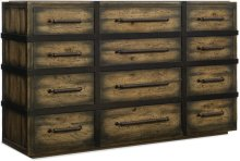 Crafted Twelve-Drawer Dresser