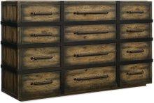Crafted Twelve-Drawer Dresser