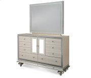 Crystal Croc Upholstered Dresser and Mirror