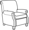 Bay Bridge Fabric Power High-Leg Recliner without Nailhead Trim