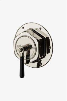 Regulator Thermostatic Control Valve Trim with Black Lever Handle STYLE: RGTH10