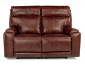 Sienna Leather Power Reclining Loveseat with Power Headrests