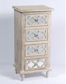 4 Drawer Accent Chest-weathered Wood Finish W/mirror Accent Su Product Image