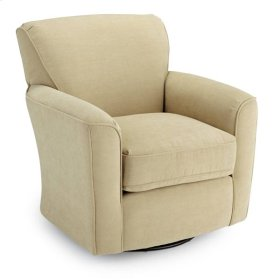 2888-23243  Swivel Barrel Chair, Cobblestone & Gravel