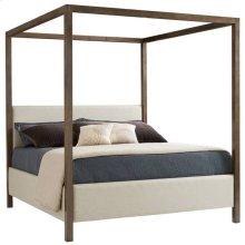 Panavista Archetype Canopy Bed - Queen in Quicksilver