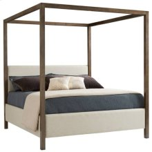 Panavista Archetype Canopy Bed - Queen in Quicksilver