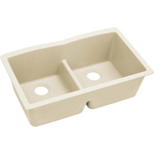 "Elkay Quartz Luxe 33"" x 19"" x 10"", Equal Double Bowl Undermount Sink with Aqua Divide"