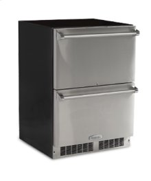"""24"""" Refrigerated Drawers - Solid Panel Overlay Ready Drawer Fronts, With Lock Sold without handles"""