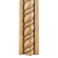 """2-3/4"""" x 1-1/16"""" Corner Moulding with 1-1/2 Beaded Rope Species: Oak Priced by the linear foot and sold in 8' sticks in cartons of 80' feet."""