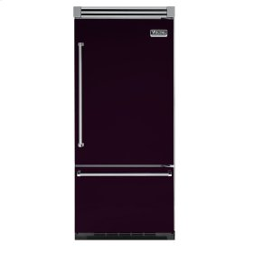 "Plum 36"" Quiet Cool™ Bottom-Mount Refrigerator/Freezer - VIBB Tru-Flush™ (Right Hinge Door)"
