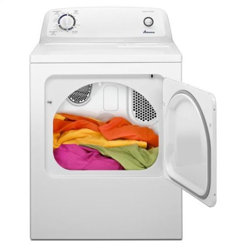 Amana® 6.5 cu. ft. Top-Load Dryer with Automatic Dryness Control - white