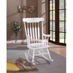 Traditional White Rocking Chair