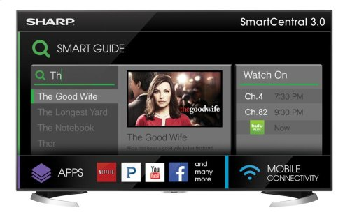 "Sharp 70"" Class AQUOS 4K Ultra HD Smart TV"
