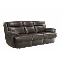 Macpherson Brown Leather Reclining Sofa
