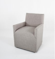 Castered arm chair