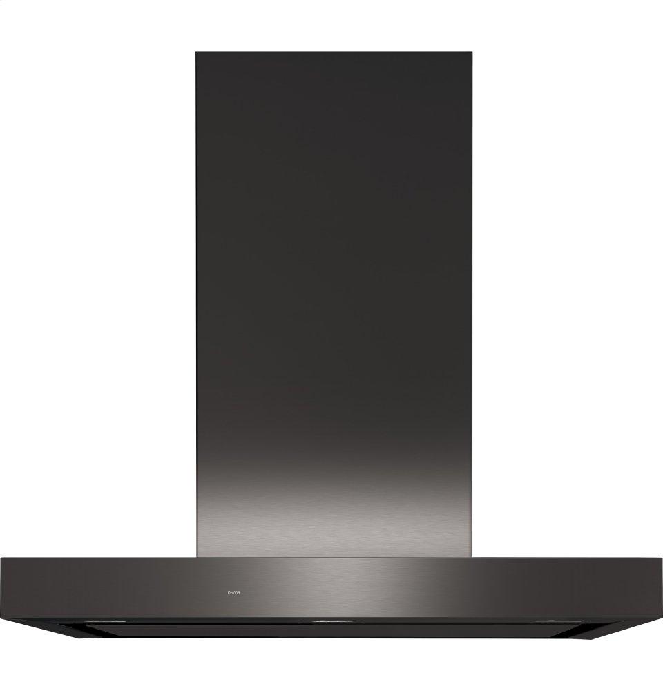 "30"" WiFi Enabled Designer Wall Mount Hood w/ Perimeter Venting  BLACK STAINLESS"