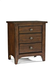 Jackson Three Drawer Nightstand Product Image