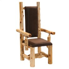 High-back Arm Chair - Natural Cedar - Standard Fabric