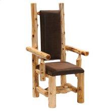 High-back Arm Chair - Natural Cedar - Standard Fabric