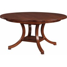 60 Diameter Square Edge Top Exeter Round Dining Table