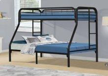BUNK BED - TWIN / FULL SIZE / BLACK METAL