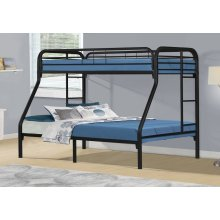 BUNK BED - TWIN / FULL SIZE / BLACK METAL