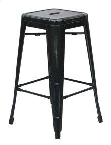 """Bristow 26"""" Antique Metal Barstools, Antique Black, 2-pack"""