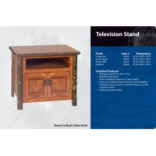 Hickory Television Stand