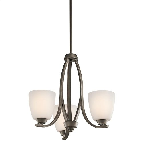 Granby Collection Granby 3 Light Chandelier - Olde Bronze
