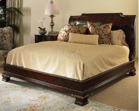 Platform Bed With Bun Foot & Veneer H.B. King Size 6/6