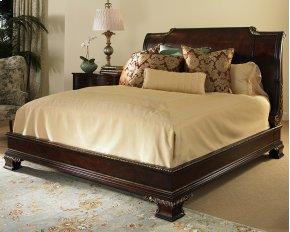 Platform Bed With Bracket Foot & Veneer H.B. King Size 6/6