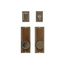 "Flute Entry Set - 3"" x 8"" Silicon Bronze Brushed"