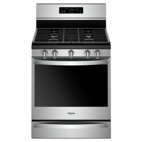 Whirlpool® 5.8 Cu. Ft. Freestanding Gas Range with Frozen Bake™ Technology - Fingerprint Resistant Stainless Steel