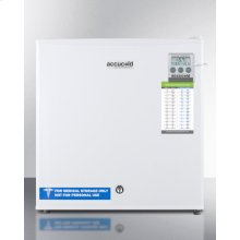 Compact Commercially Listed All-freezer, Manual Defrost With A Lock and Traceable Thermometer