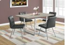 """DINING CHAIR - 2PCS / 32""""H / GREY LEATHER-LOOK / CHROME Product Image"""