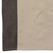 Harlow Char Tab Top 42x84 55%cotton/45% Linen NATURAL W/ CHAR BORDER