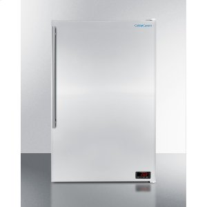 SummitCold Cavern Beer Froster, Summit's Counter Height Freezer That Stores Aluminum Bottled Beer At 24 f; With Stainless Steel Door and Pro Handle