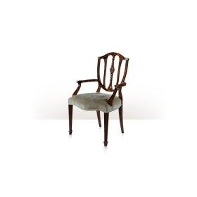 Palmerstone's Brass Rosette Dinner Armchair, #plain# - Brass Rosette Corners