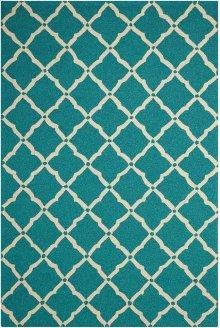 Portico Por01 Aqua Rectangle Rug 5' X 7'6''