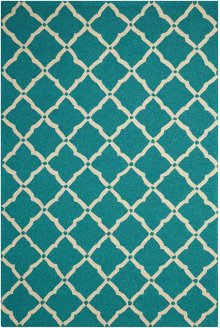 Portico Por01 Aqua Rectangle Rug 5' X 7'6''