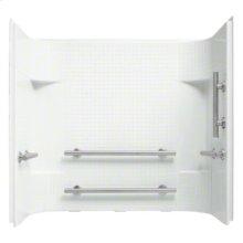 "Accord® 60"" x 30"" x 55"" Tile Wall Set with Grab Bars - White"