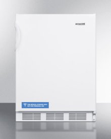 Built-in Undercounter ADA Compliant Refrigerator-freezer for General Purpose Use, With Dual Evaporator Cooling, Cycle Defrost, and White Exterior