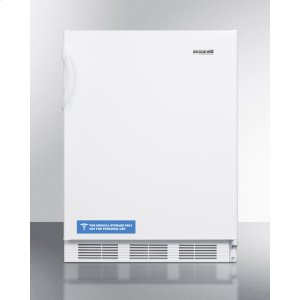 SummitBuilt-in Undercounter ADA Compliant Refrigerator-freezer for General Purpose Use, With Dual Evaporator Cooling, Cycle Defrost, and White Exterior