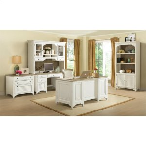 RiversideMyra - Credenza Desk - Natural/paperwhite Finish