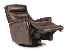 Alden Fabric King Power Swivel Gliding Recliner