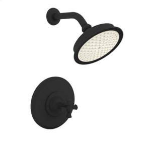 Flat-Black Balanced Pressure Shower Trim Set