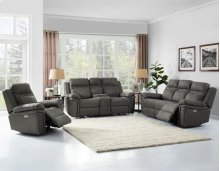 Wriston PWR/PWR Console Recliner Loveseat Gray 77x38x41